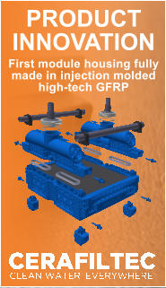 PRODUCT INNOVATION  First module housing fully  made in injection molded  high-tech GFRP